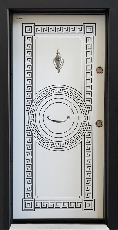 Входна подсилена врата SL100 Бяла Перла