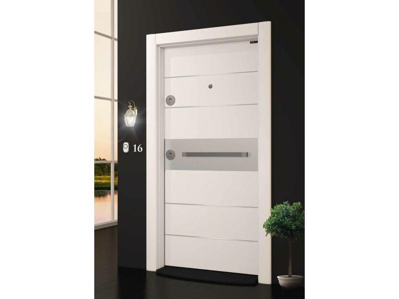 Входна врата Laminart 721 HG White/Chrom
