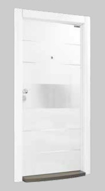 Входна врата Laminart 721 HG White Chrom