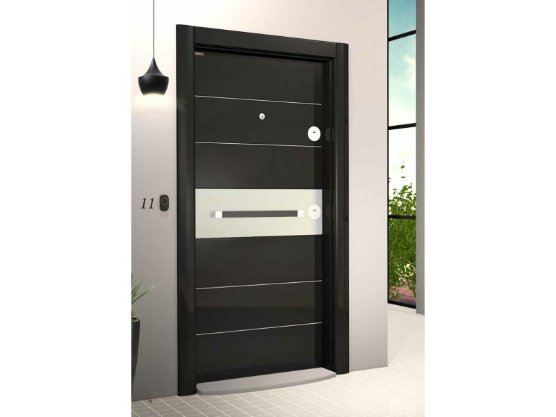 Входна врата Laminart 721 HG Black/Chrom