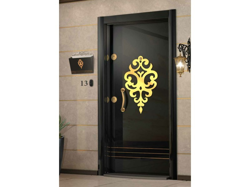 Входна врата Laminart R727 HG Black Gold