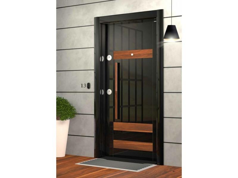 Входна врата Laminart 733 HG Black/Apple
