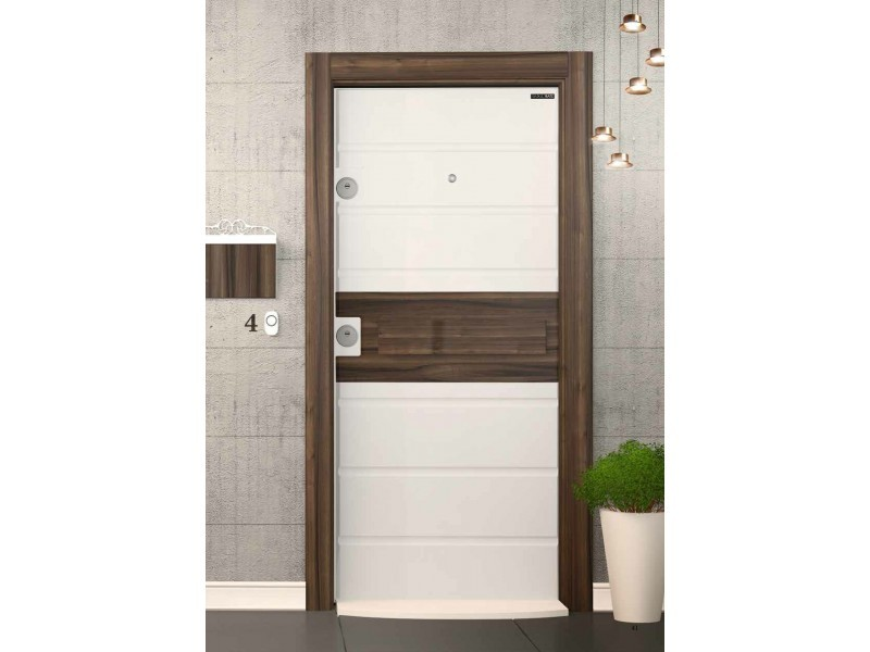 Врата Smart SM05 White Matt/Walnut  ID СМ 05