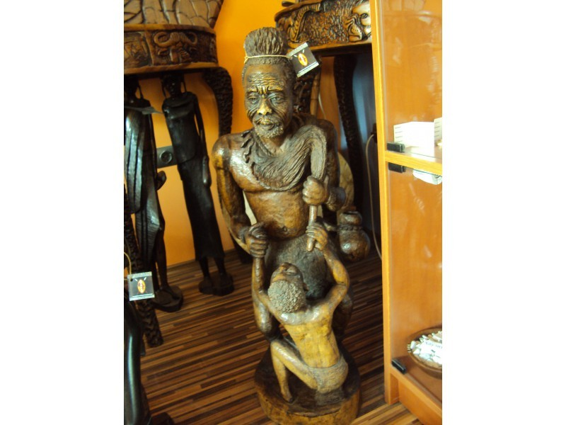 """Статуетка """"Африканска войн с дете""""  ID 97565"""
