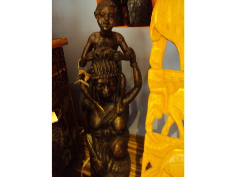 """Статуетка """"Африканка с деца""""  ID 976445"""