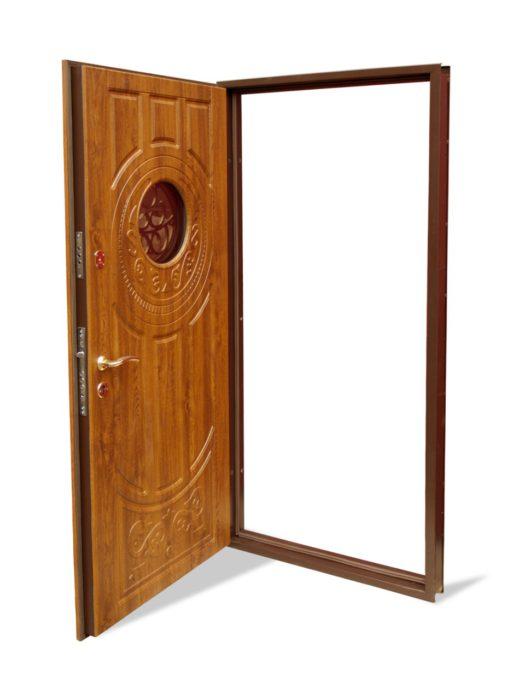 Входна врата за къща със стъкло (подходяща за външни условия) – 179 златен дъб