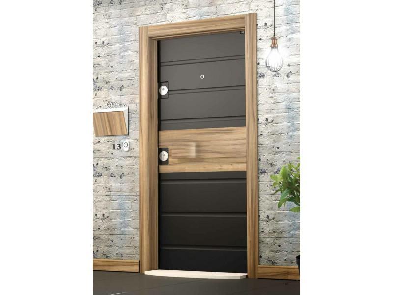 Врата Smart SM05 Black Matt/Light Walnut  ID SM05B