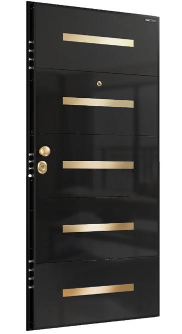 Входна врата Laminart R724 HG Black Gold