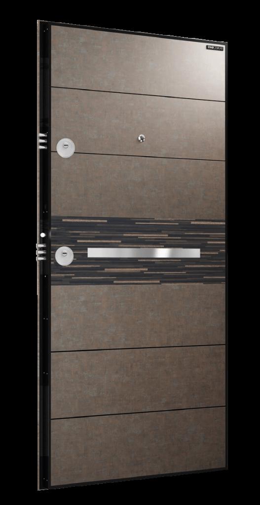 Врата Laminox L214 Сив камък/Черен масив
