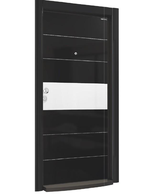 Входна врата Laminart 721 HG Black Chrom