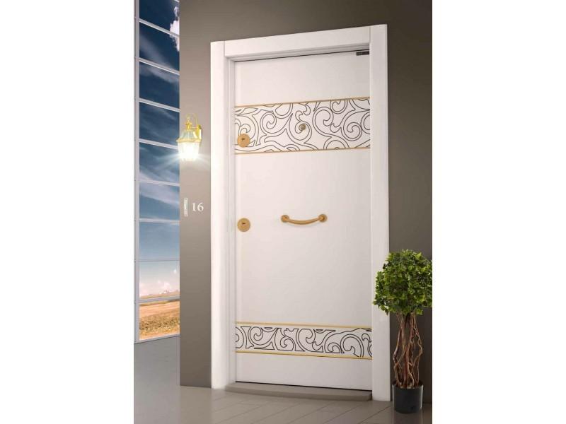 Входна врата Laminart R730 HG White/Gold