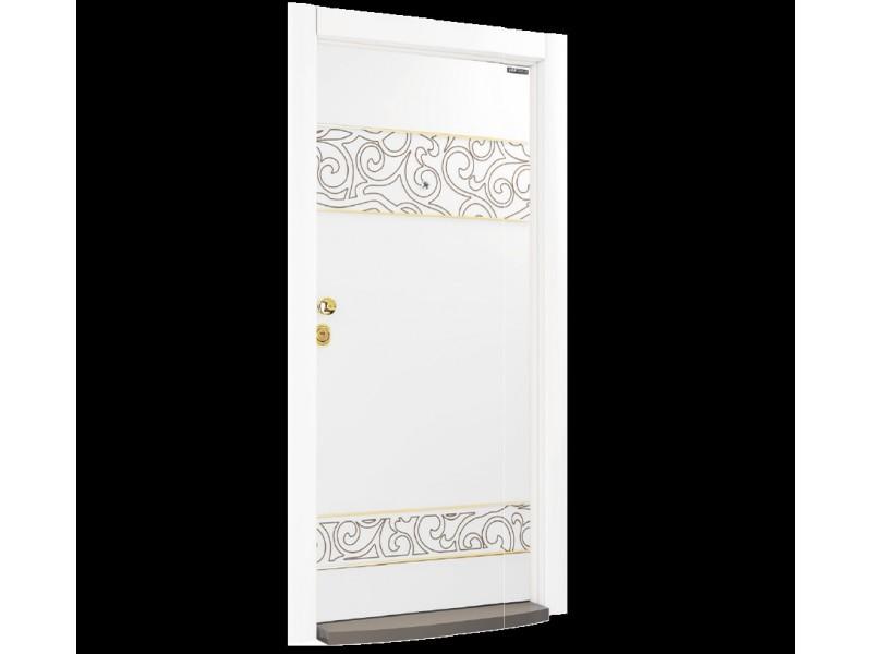 Входна врата Laminart 730 HG White Gold