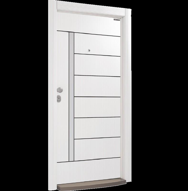 Врата Laminox L205 White Pearl