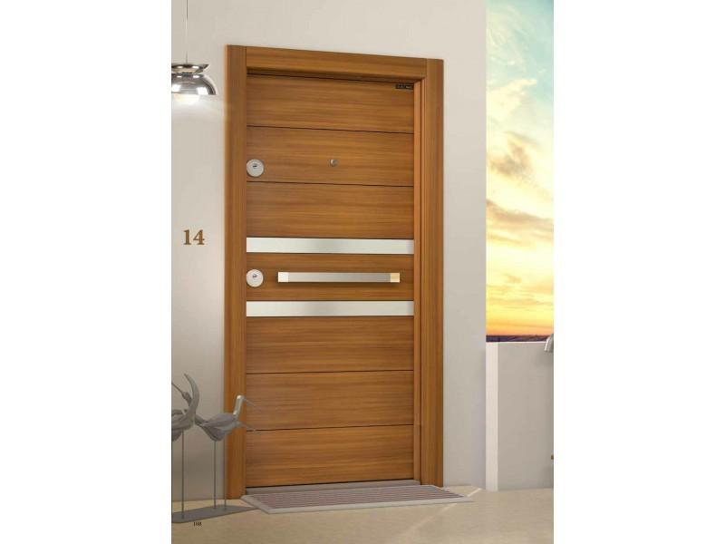 Врата Laminox L601 Орех/Инокс