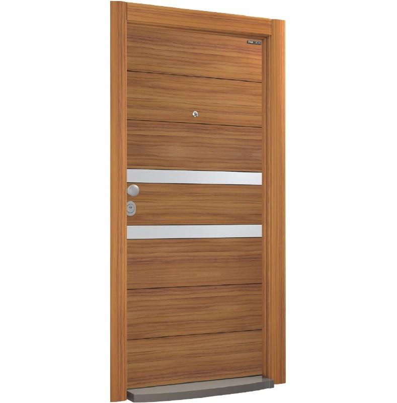 Врата Laminox L601 Walnut/Inox