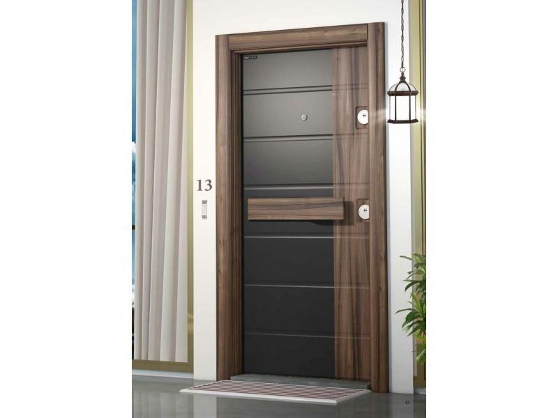 Врата Smart SM01 Black Matt/Walnut