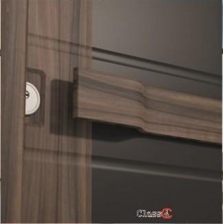 Врата Smart SM 01 Black Matt/Walnut  ID СМ01