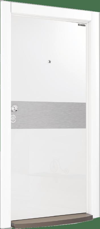 Входна врата Crystal CR 03 White Chrome
