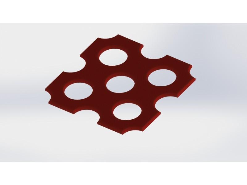 Каучукова плоча MB0006 Red 50мм.