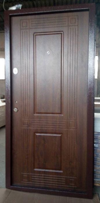 Входна врата за къща (подходяща за външни условия) – 55+8 Тъмен дъб
