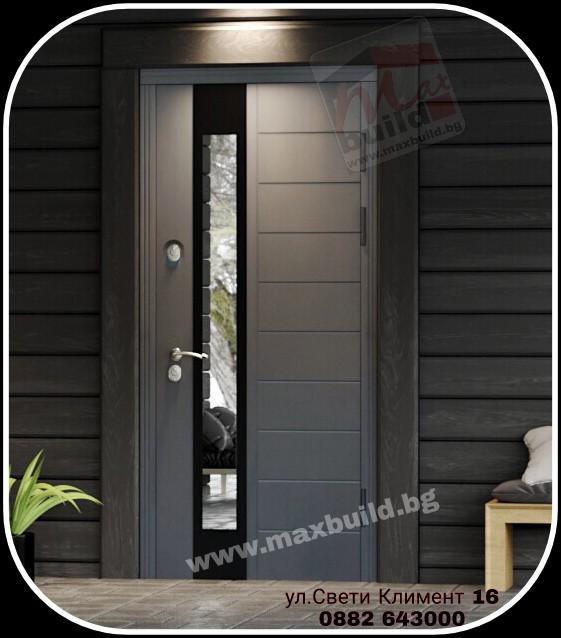 Входна врата за къща (подходяща за външни условия) 65 – Termo UFO сив цвят – Антрацит