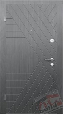 Входна блиндирана врата за апартамент – 324 Дъб кортина (украинска)