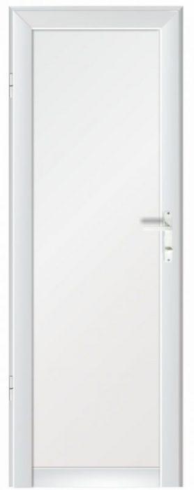 Алуминиева врата за баня – бял цвят