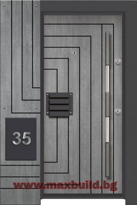 Турска входна врата Лукс Стар 19 Синтез
